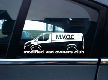 MVOC modified van owners club sticker -for Ford Transit van , mk8
